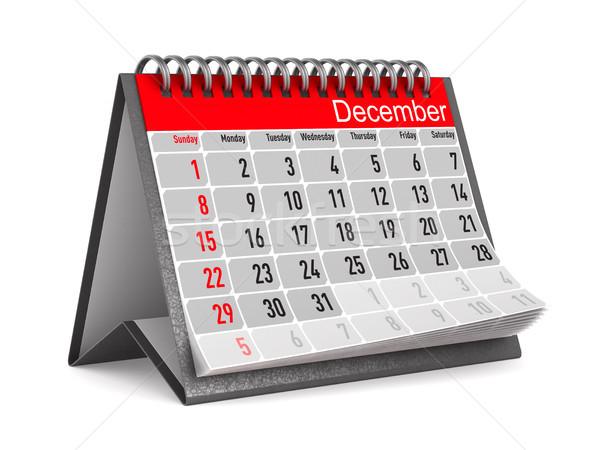 календаря декабрь изолированный 3d иллюстрации служба столе Сток-фото © ISerg