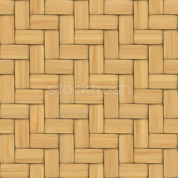 Abstract decorative wooden textured basket weaving. 3D image Stock photo © ISerg