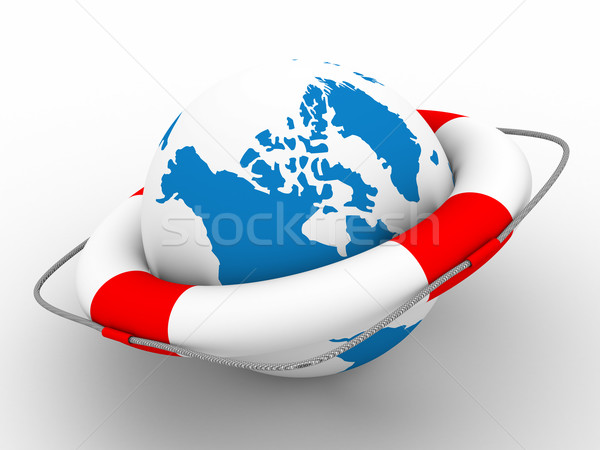 Planet protection. Isolated 3D image Stock photo © ISerg