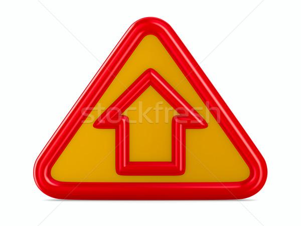 house traffic sign on white background. Isolated 3D image Stock photo © ISerg