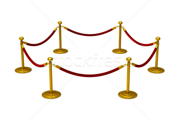 barrier rope on white background. Isolated 3D illustration Stock photo © ISerg