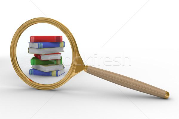 Stock fotó: Információ · keresés · izolált · 3D · kép · iskola