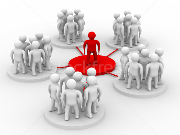 conceptual image of the leader. Isolated 3D image Stock photo © ISerg