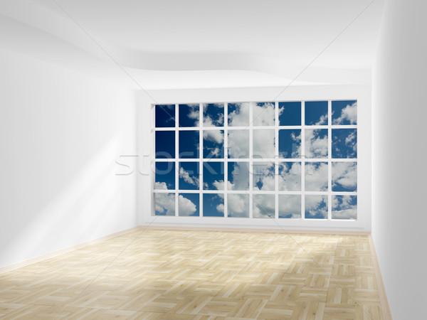 Lege kamer achter Open venster 3D Stockfoto © ISerg