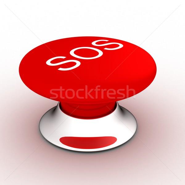 кнопки СОС белый 3D изображение Сток-фото © ISerg