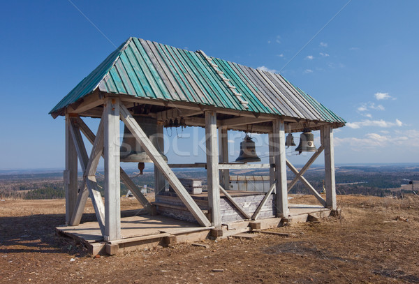 Old wooden belltower. Russia. Perm. White mountain Stock photo © ISerg