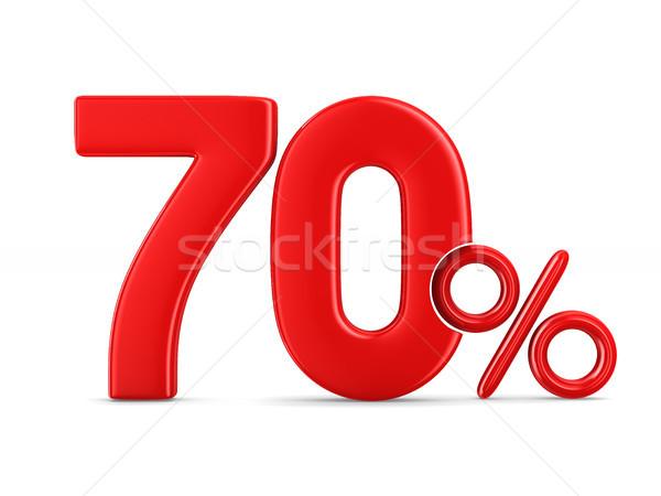 Seventy percent on white background. Isolated 3D illustration Stock photo © ISerg