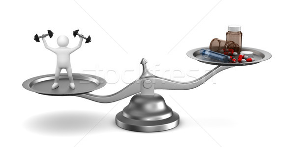 Stock photo: Problems dope in sports. Isolated 3D illustration