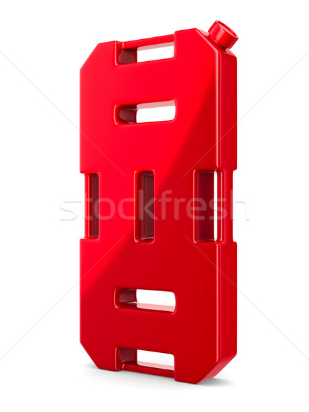 gasoline canister on white background. Isolated 3D image Stock photo © ISerg