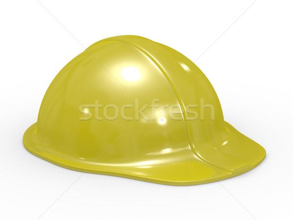 Gelb Helm weiß isoliert 3D Bild Stock foto © ISerg