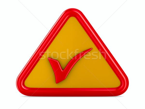 Symbol ok on white background. Isolated 3D image Stock photo © ISerg