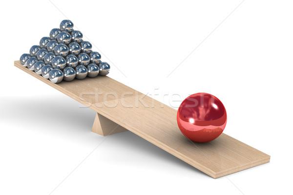 Irányítás fehér izolált 3D kép labda Stock fotó © ISerg