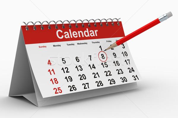 calendar on white background. Isolated 3D image Stock photo © ISerg