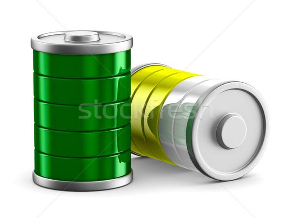 battery on white background. Isolated 3d image Stock photo © ISerg