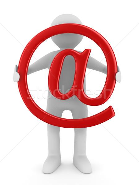 Сток-фото: электронная · почта · белый · изолированный · 3D · изображение · бизнеса