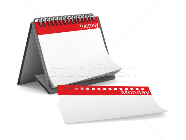 Calendar for tuesday on white background. Isolated 3D illustrati Stock photo © ISerg