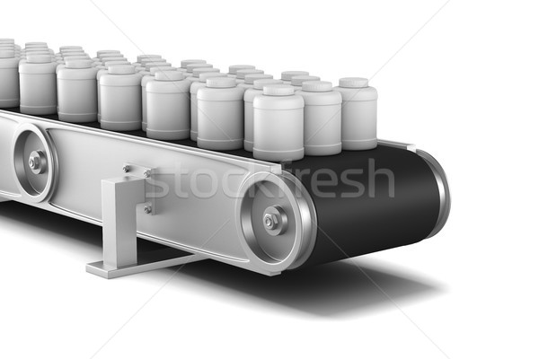 Stockfoto: Witte · geïsoleerd · 3d · illustration · business · technologie · industrie