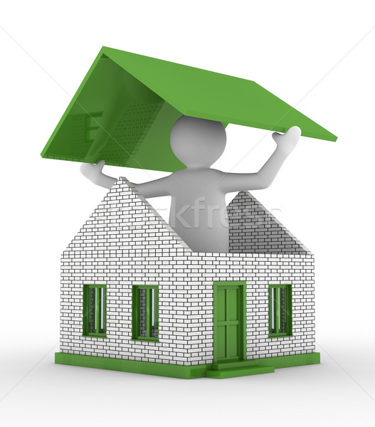 House building on white background. Isolated 3D image Stock photo © ISerg