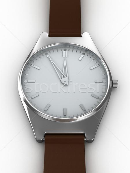 Ver branco isolado 3D imagem mão Foto stock © ISerg