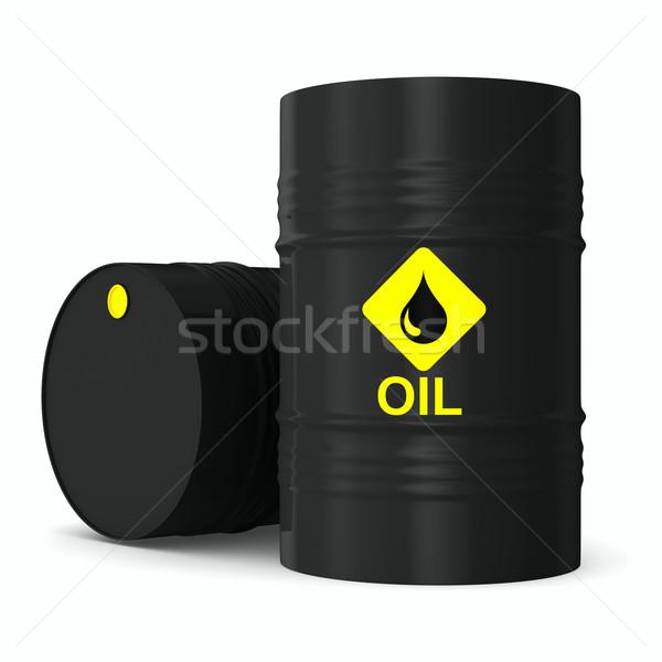ÁFA fehér izolált 3D kép olaj Stock fotó © ISerg