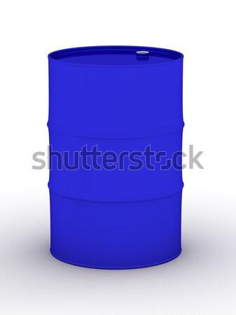 Kék ÁFA fehér 3D kép fém Stock fotó © ISerg