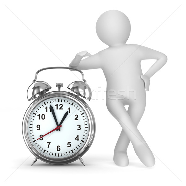 Alarm clock on white background. Isolated 3D image Stock photo © ISerg