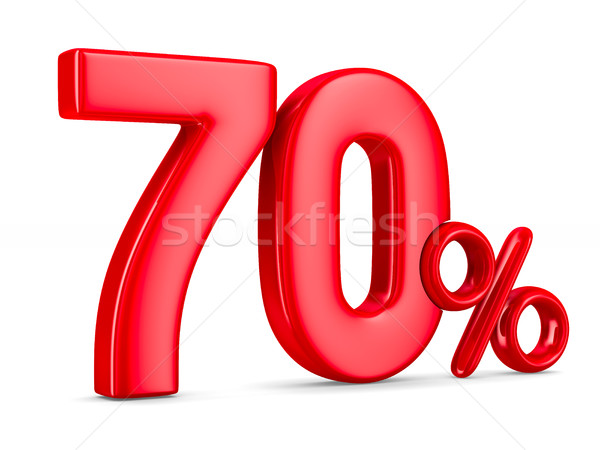 Seventy percent on white background. Isolated 3D illustration Stock photo © ISerg