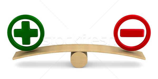 Scales on white background. Isolated 3D illustration Stock photo © ISerg