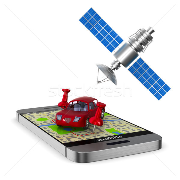 Navigation system. Isolated 3D illustration Stock photo © ISerg