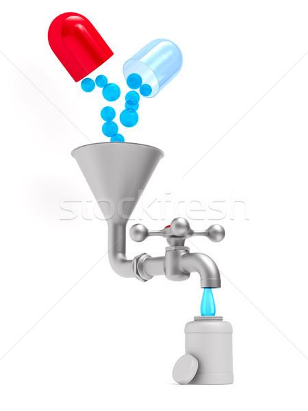 Grifo blanco aislado 3D 3d agua Foto stock © ISerg