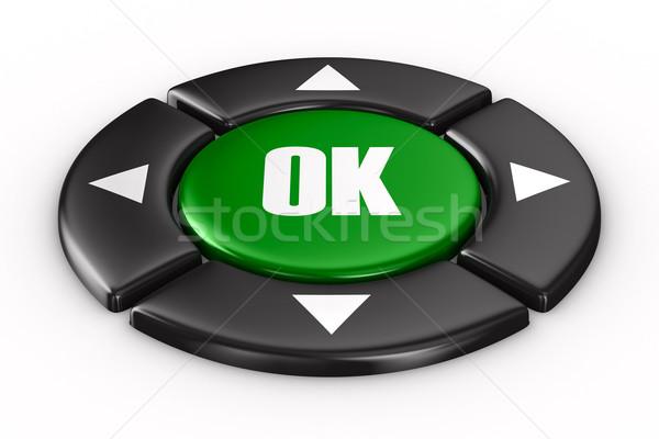 button ok on white background. Isolated 3D image Stock photo © ISerg
