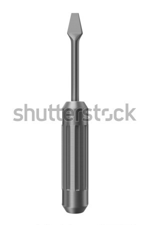 Foto stock: Destornillador · blanco · aislado · 3D · imagen · construcción