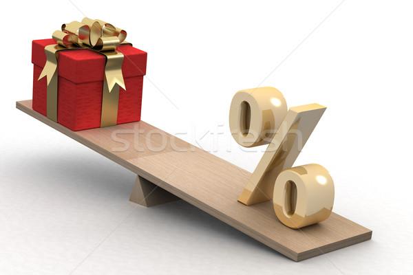 Foto stock: Presentes · isolado · 3D · imagem · negócio · amor