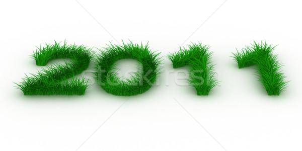 2010 год трава изолированный 3D изображение Сток-фото © ISerg