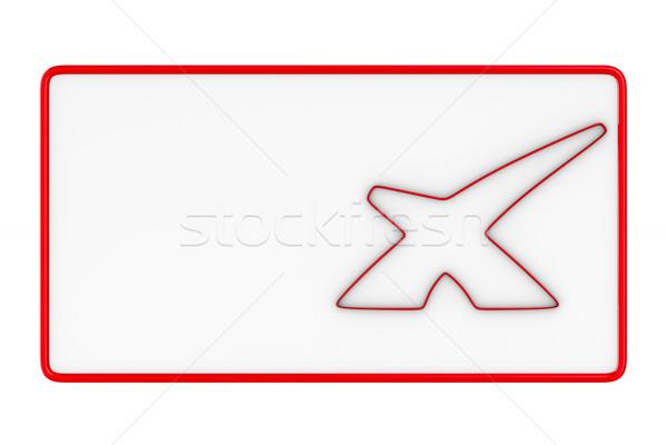 billboard with symbol X on white background. Isolated 3D image Stock photo © ISerg