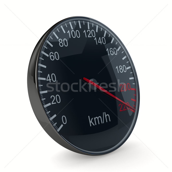 speedometer on white background. 3D image Stock photo © ISerg