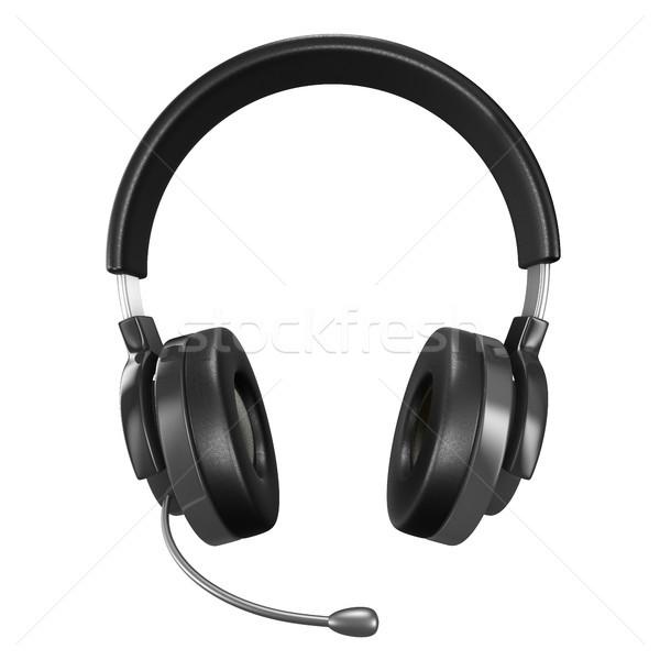 Headphone on white background. Isolated 3D image Stock photo © ISerg