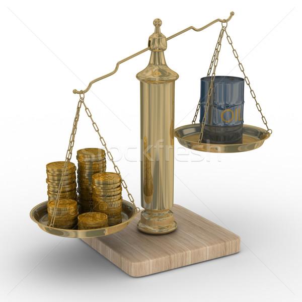 Óleo dinheiro balança isolado 3D imagem Foto stock © ISerg