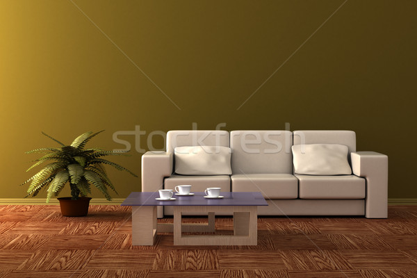 Interior of a living room. 3D image. Stock photo © ISerg