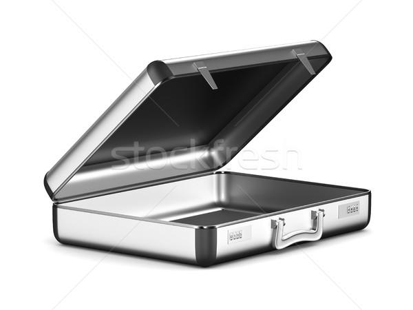 Caso bianco isolato illustrazione 3d viaggio nero Foto d'archivio © ISerg