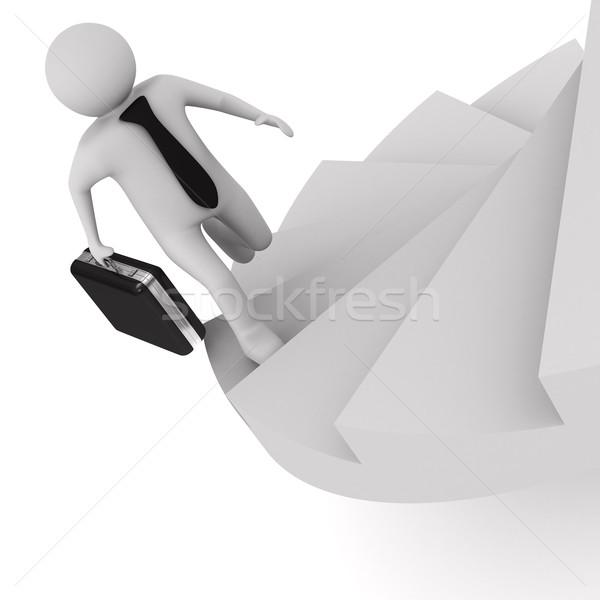 Irányítás fehér izolált 3D kép férfi Stock fotó © ISerg