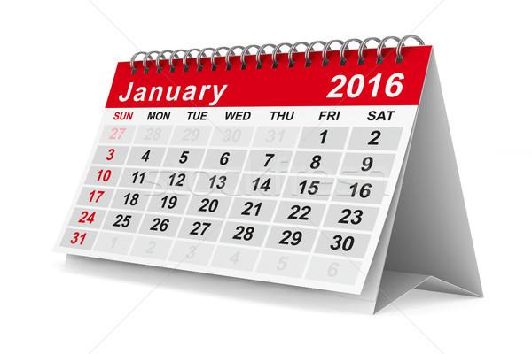 2016 year calendar. January. Isolated 3D image Stock photo © ISerg