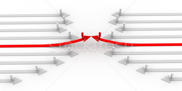 Direction of movement. 3D image. Stock photo © ISerg