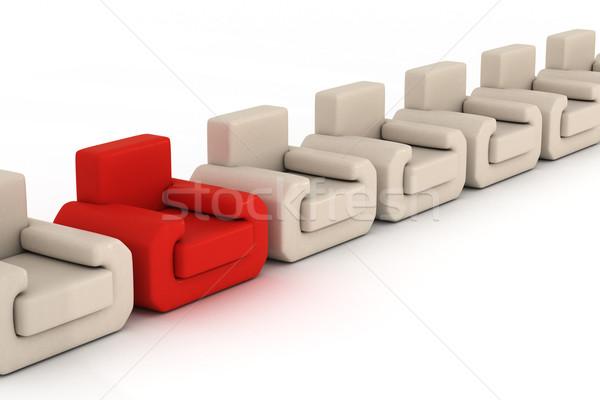 Foto stock: Branco · 3D · imagem · escritório · casa