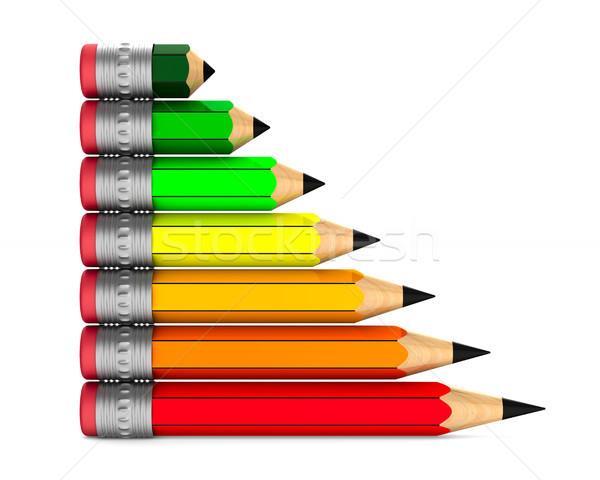 Energia lápis branco isolado 3D Foto stock © ISerg