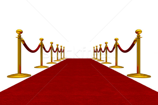 Tapis rouge corde blanche isolé 3D malade Photo stock © ISerg