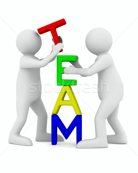 Conceptual image of teamwork. Isolated 3D on white Stock photo © ISerg