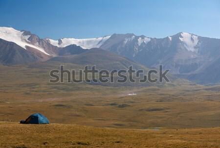 Hegyek gyönyörű tájkép Mongólia égbolt természet Stock fotó © ISerg