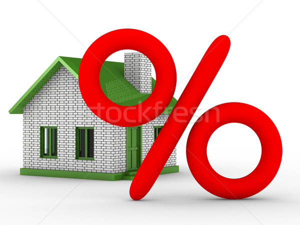 Discounts for real estate. Isolated 3D image Stock photo © ISerg