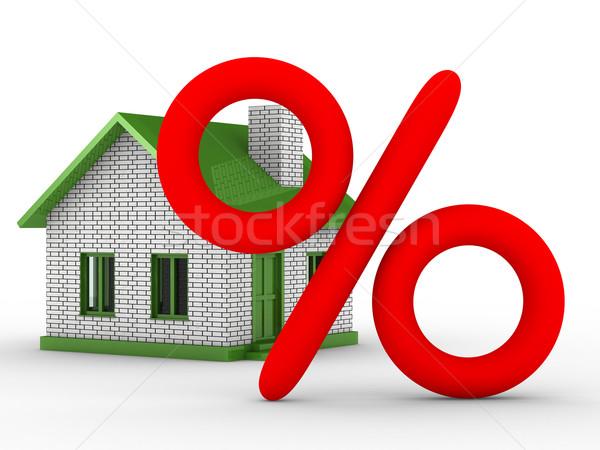 Inmobiliario aislado 3D imagen casa financiar Foto stock © ISerg
